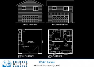 24x24 Garage Suite